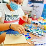 Art activity during our summer camp in France