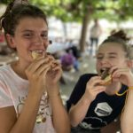 Snack time during our summer camp in France